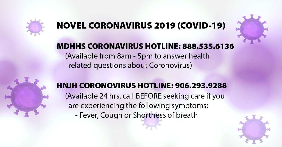 hnjh covid hotline 906.293.9288