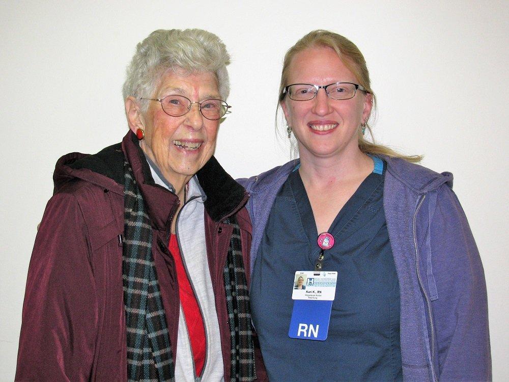 Ellen Plumb with Kari Kangas, RN