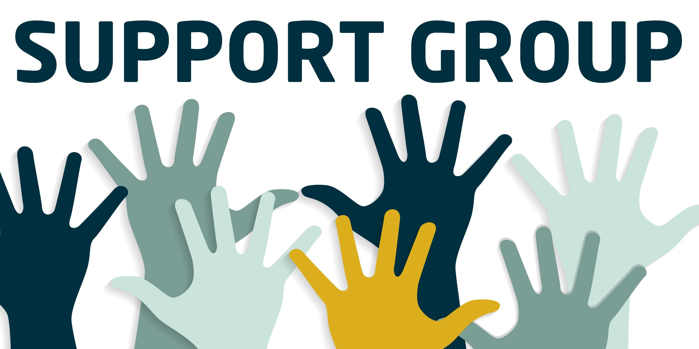 hands up with support group words