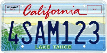 Lake Tahoe Conservancy License Plate