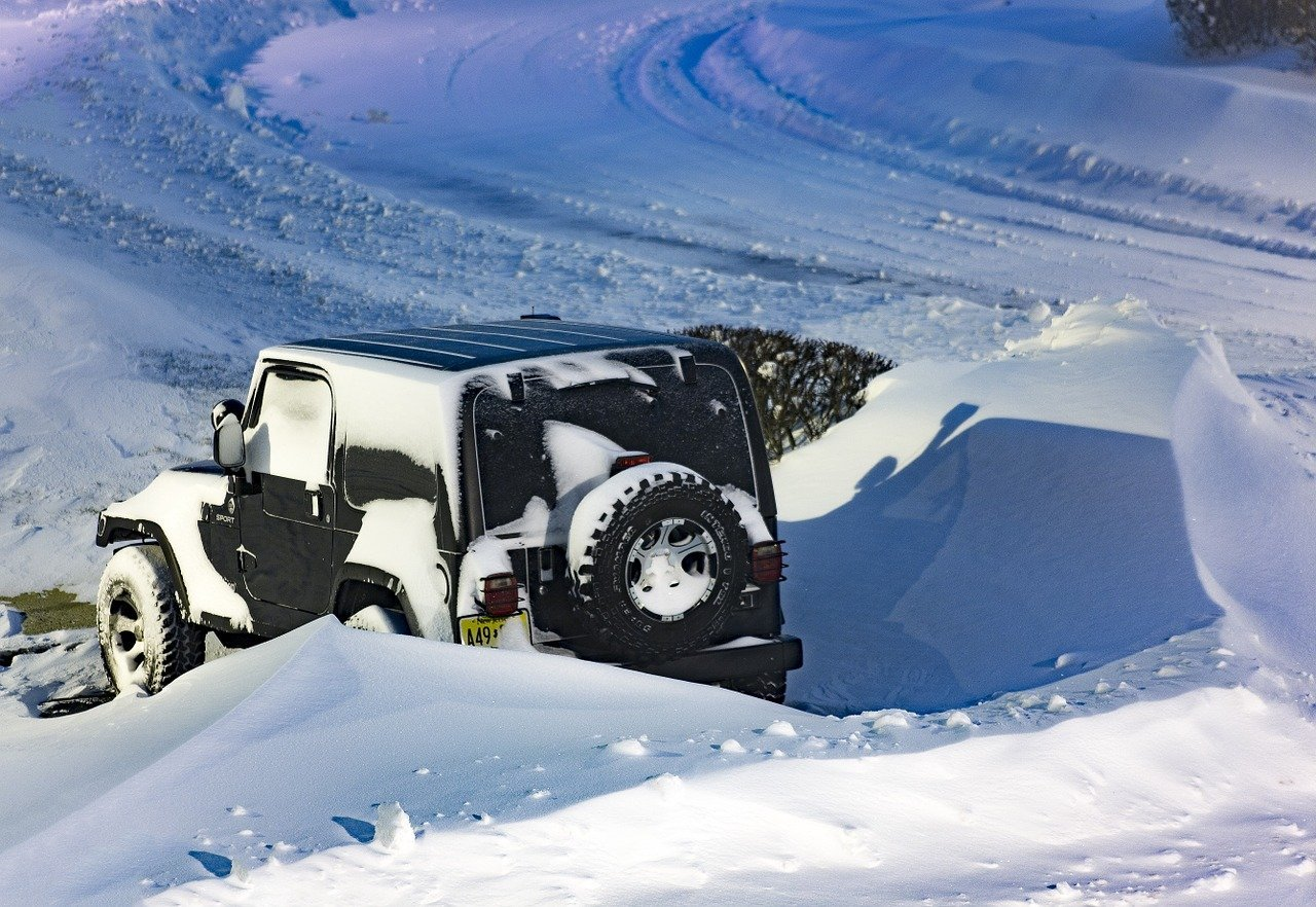 Stopping on a snow bank may be the best way to prevent yourself from crashing due to a skid.