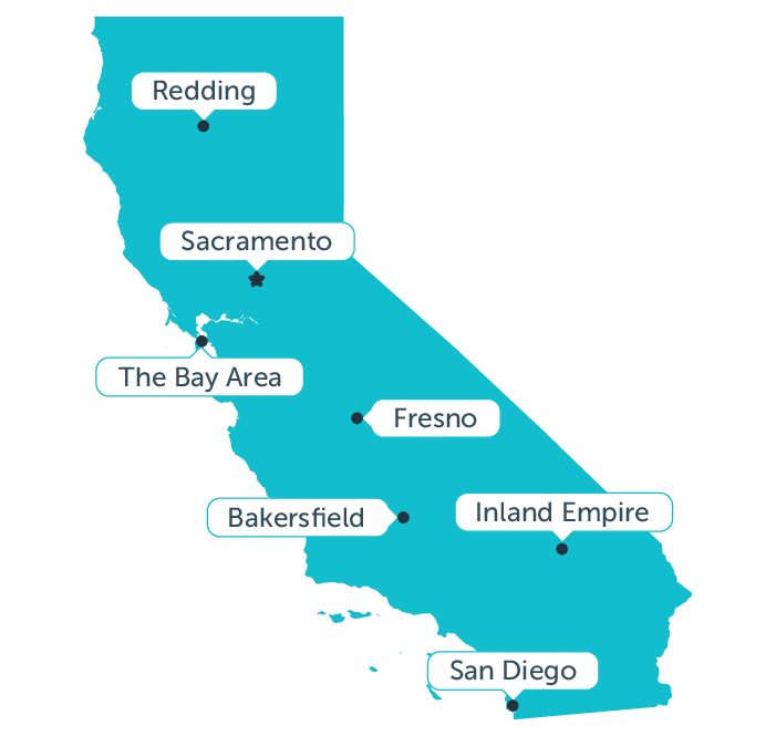 Aceable's map of california's fastest growing real estate markets