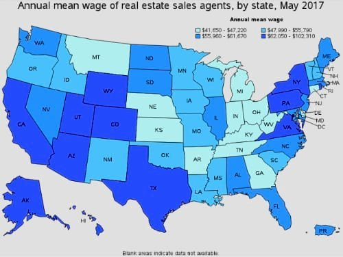 Annual Salary based on State