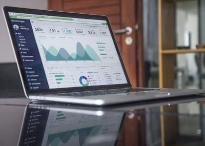 Marketing Data on laptop