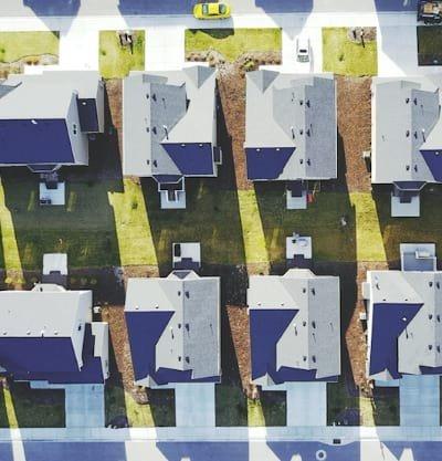 Overhead view of a neighborhood