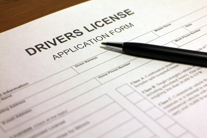 drivers license application form