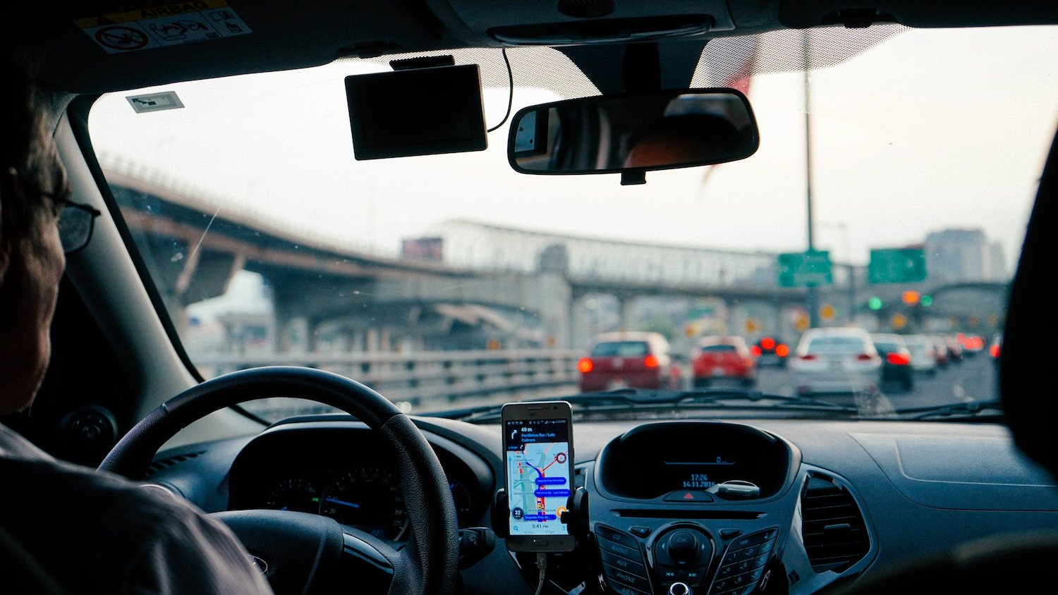 driving car with gps