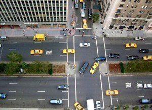 top view intersection