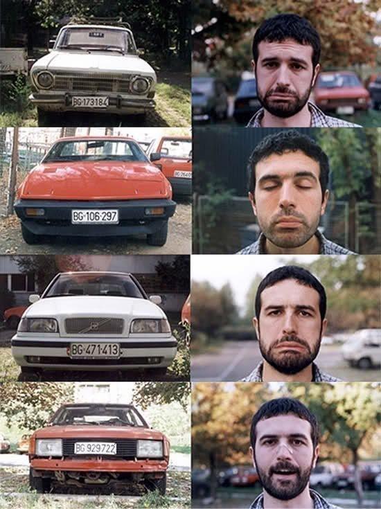 modern art and cars
