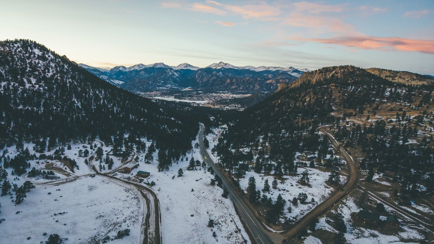 colorado roads in winter