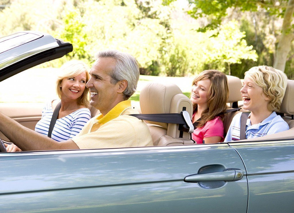 Family driving, with a teen discussing what she's learned in her California drivers ed course.