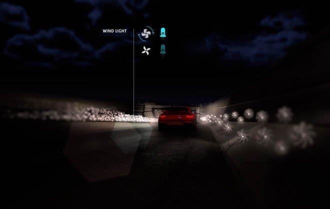 Smart Highways with Wind Light