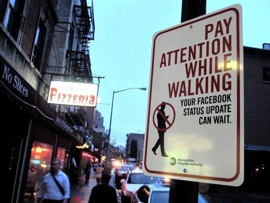 Pedestrians Facebook Status