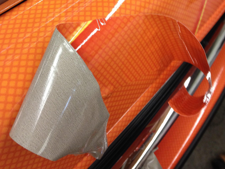 closeup of car wrap