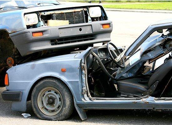 2 car pile up