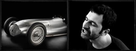 modern art and cars: Mercedes and artist