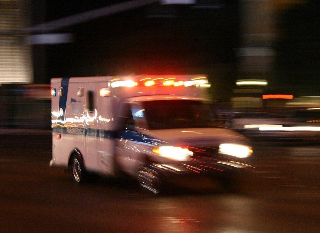 ambulance rushing from hospital