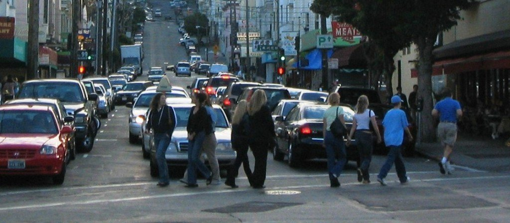 pedestrians crossing