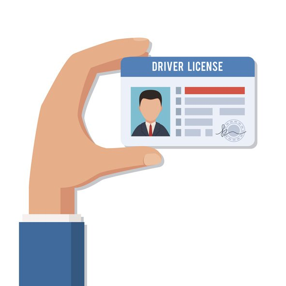 Showing your drivers license