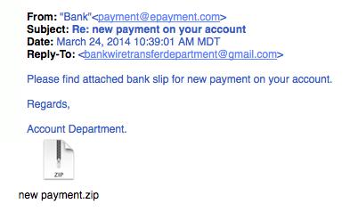 Accounting phishing example