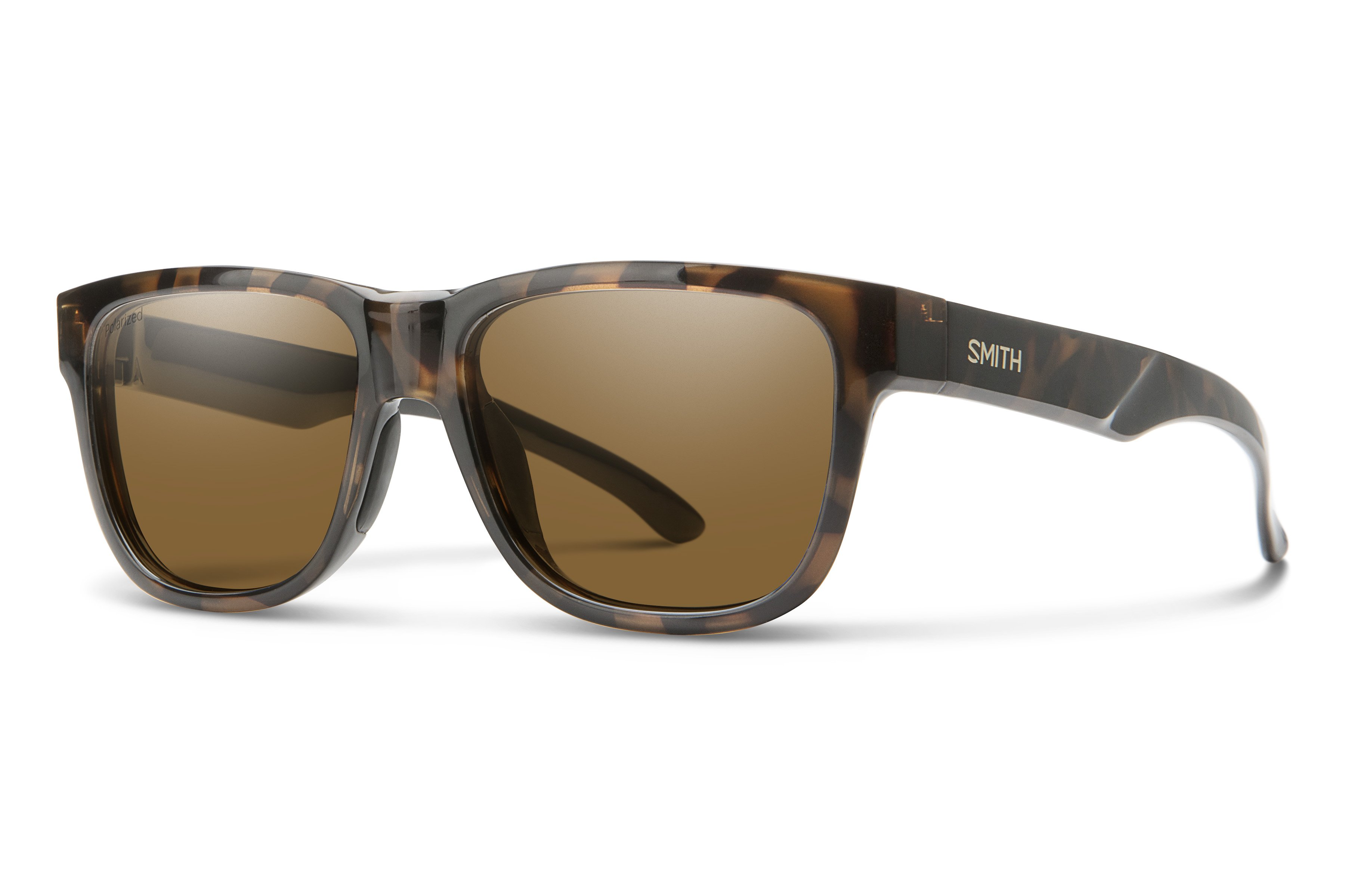 Smith Optics Challis Designer Sunglasses in Matte Tortoise with Polarized Brown