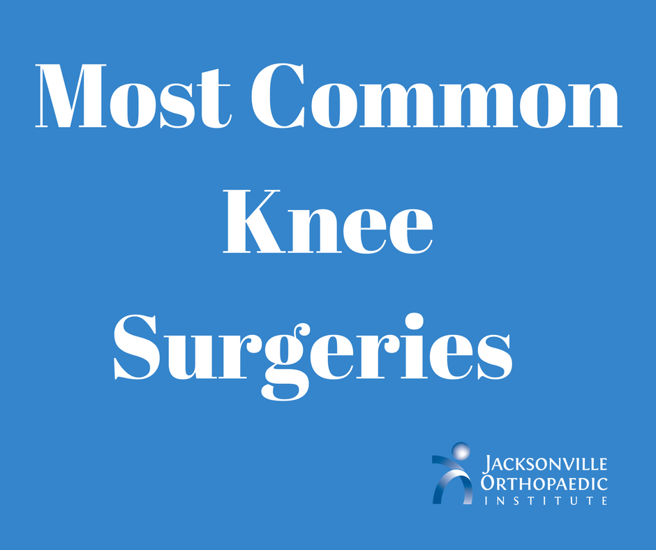 JOI Most Common Knee Surgeries