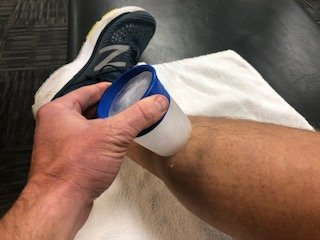 Ice cup or ice massage is a way to pinpoint the pain of shin splints.