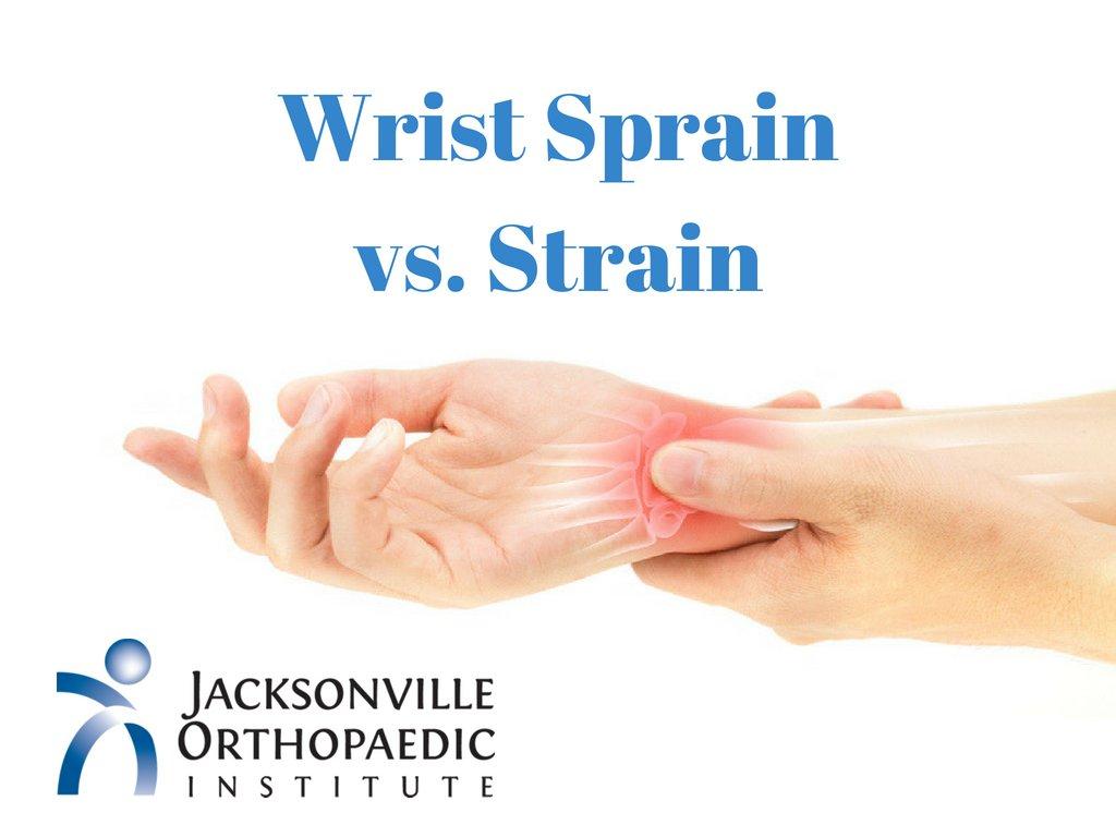 JOI Wrist Sprain vs. Strain