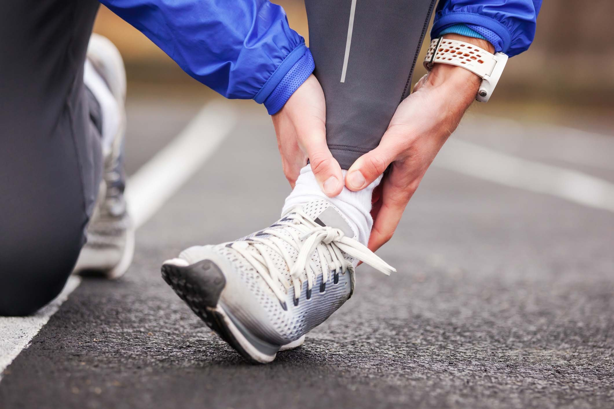 A sprain is damage or a tear in a ligament.