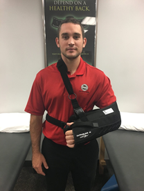 Wear a sling properly to avoid injury.