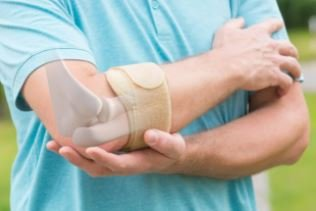 A golfers elbow brace can help with golfers elbow pain as it stabilizes the elbow tendon