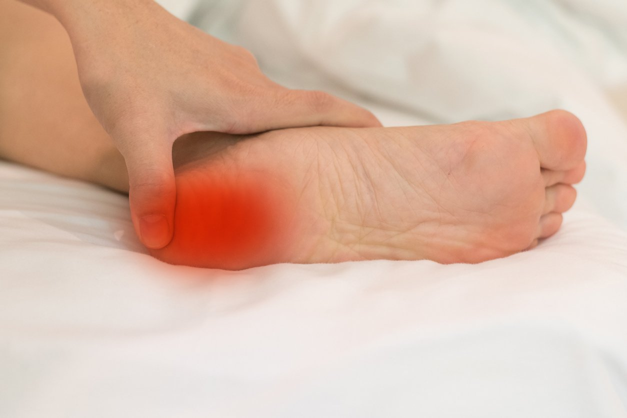 Tenderness in the foot or ankle is a sign of inflammation.