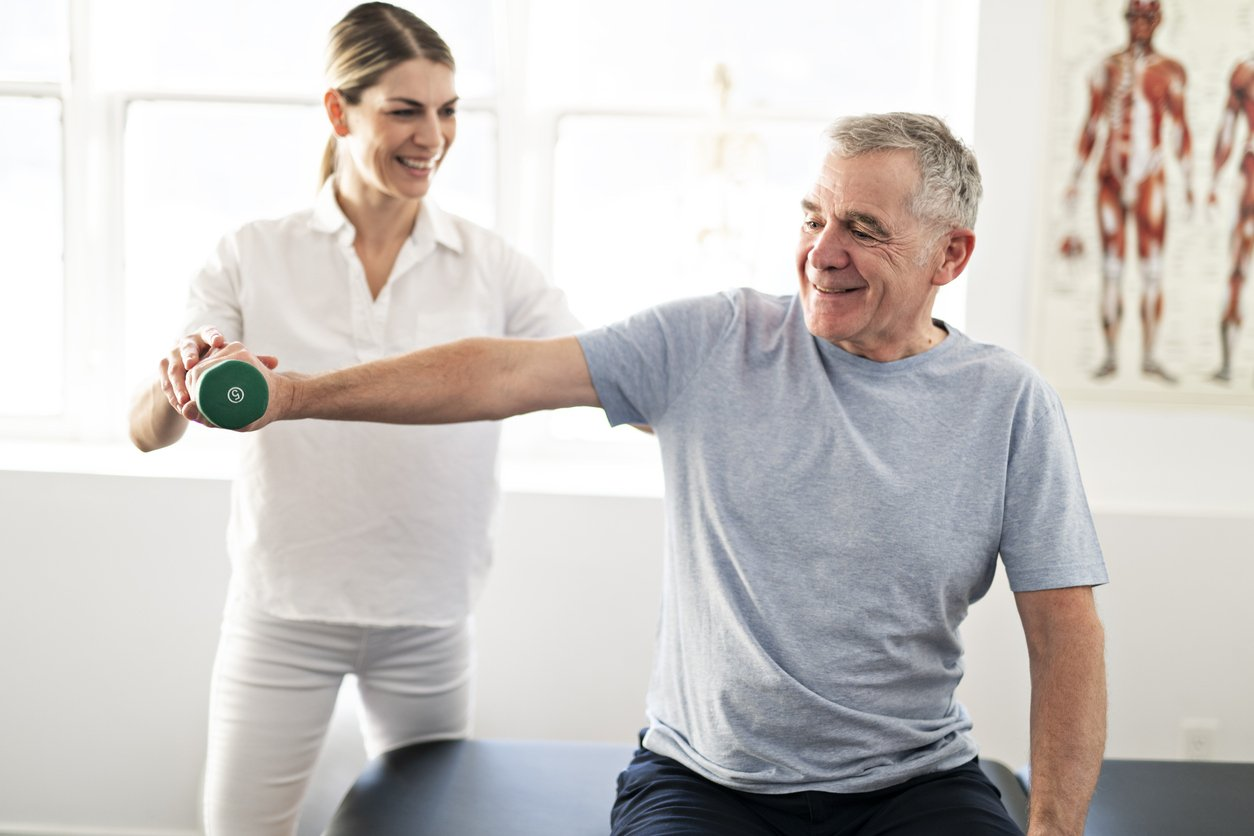 Physical therapy can help you recover from a muscle strain.
