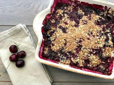 Gluten-Free Cherry Crisp Tart   In The Kitchen With Honeyville