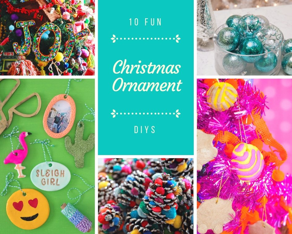 featured image of 10 Fun Christmas Ornament DIYS article