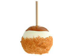 Apple Pie Caramel Apple - from Rocky Mountain Chocolate Factory - History of the Caramel apple