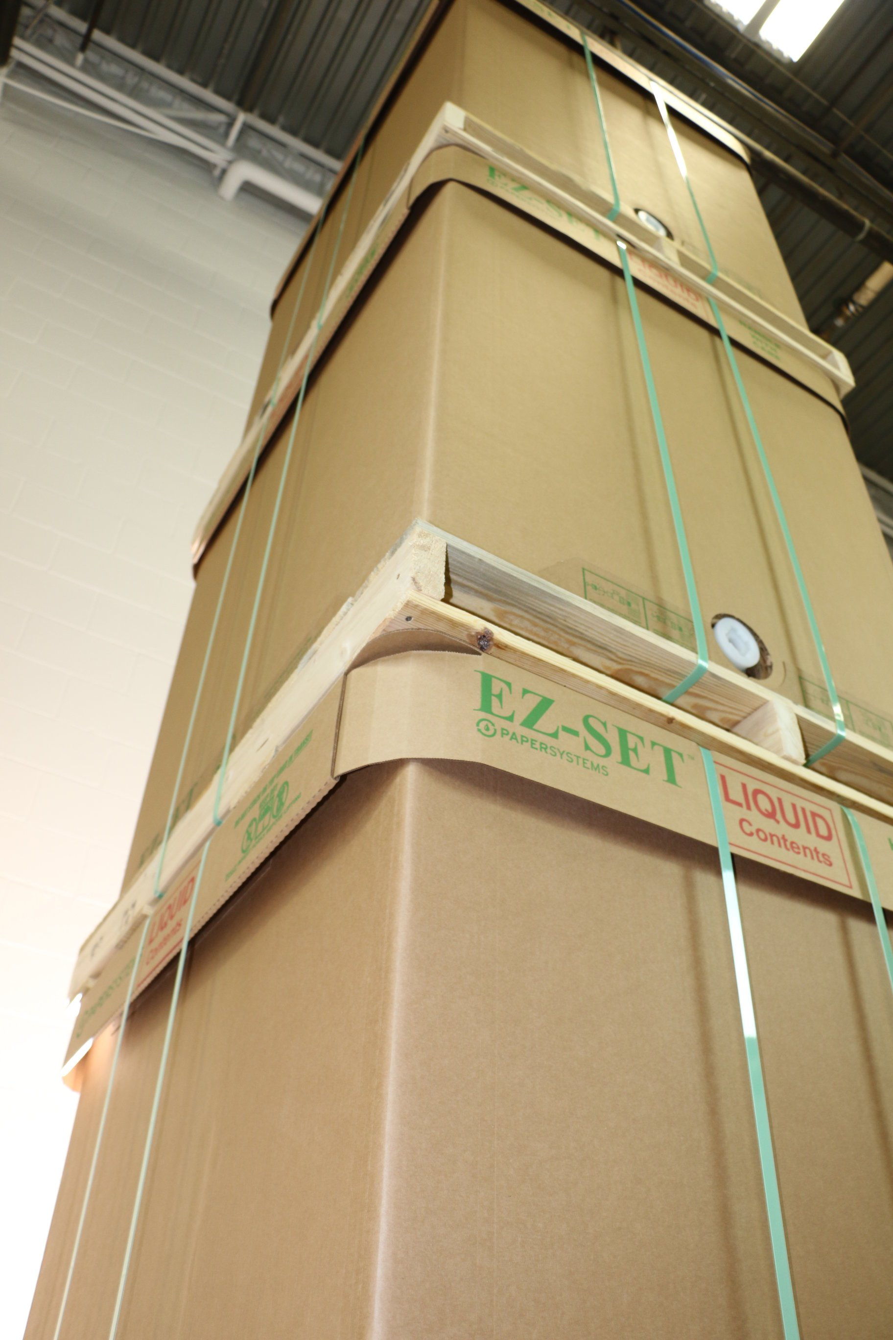 liquid storage totes are safer to move than 55 gallon drums