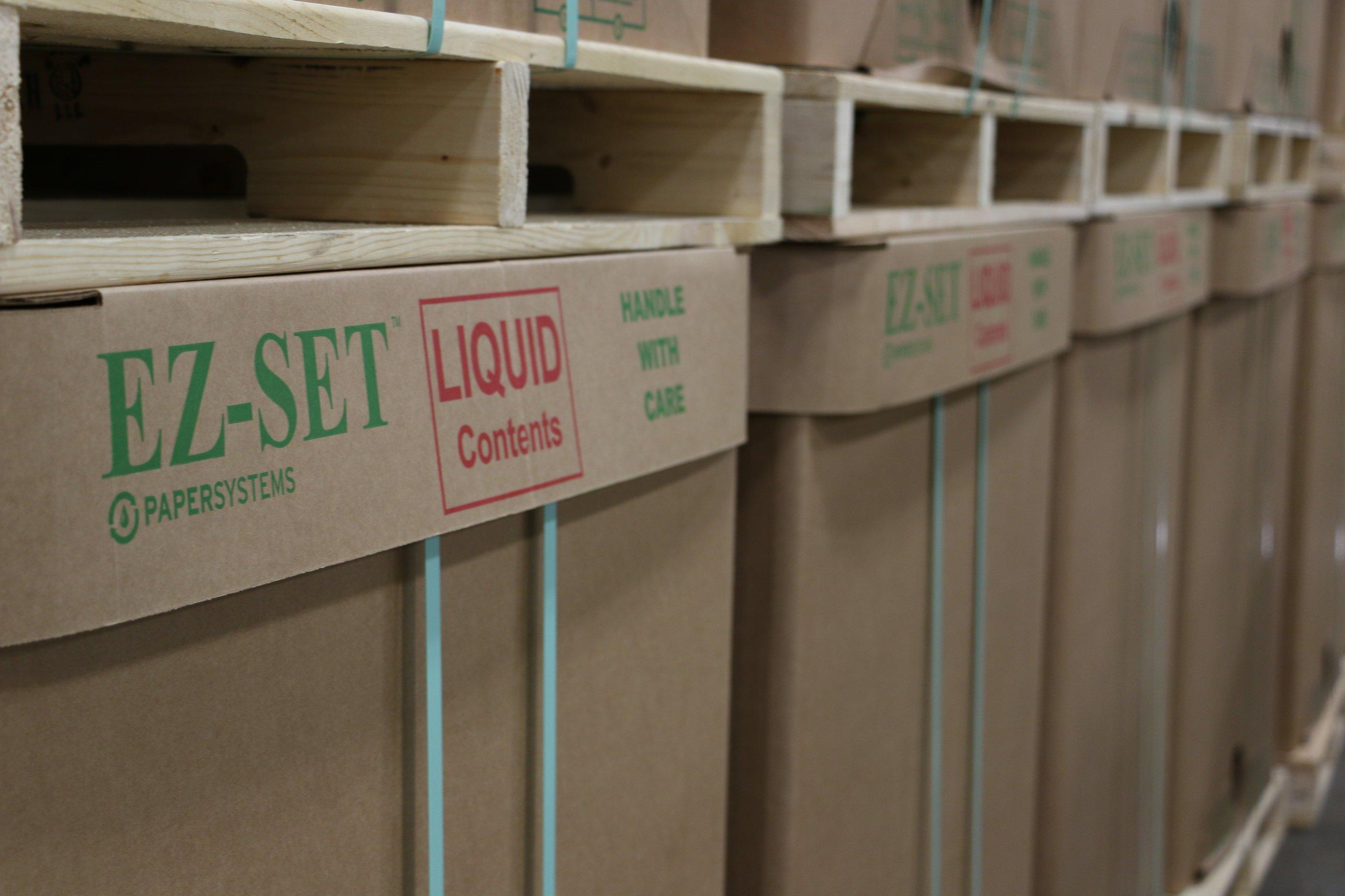 corrugated cardboard liquid totes