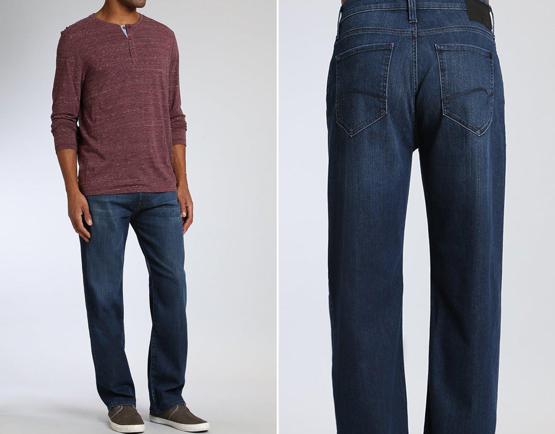 Mavi Men's Marcus Slim Straight Leg Jeans in Dark Blue Athletic